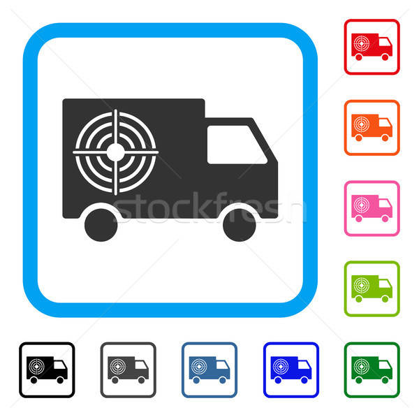 Shooting Gallery Truck Framed Icon Stock photo © ahasoft