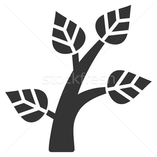 Növény fa ikon piktogram stílus grafikus Stock fotó © ahasoft