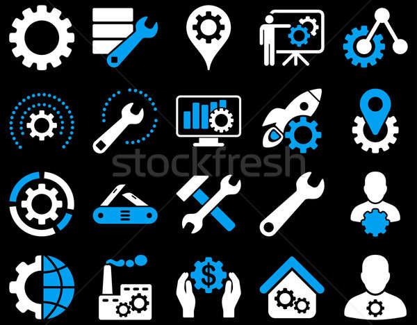 Herramientas iconos estilo Foto stock © ahasoft