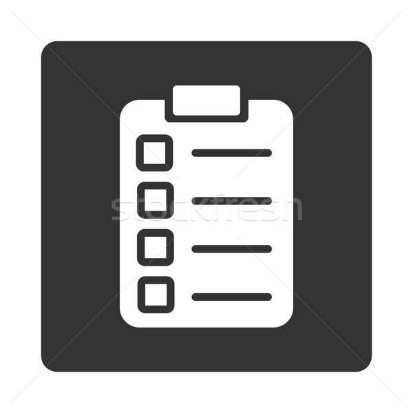 Prueba tarea icono estilo blanco gris Foto stock © ahasoft