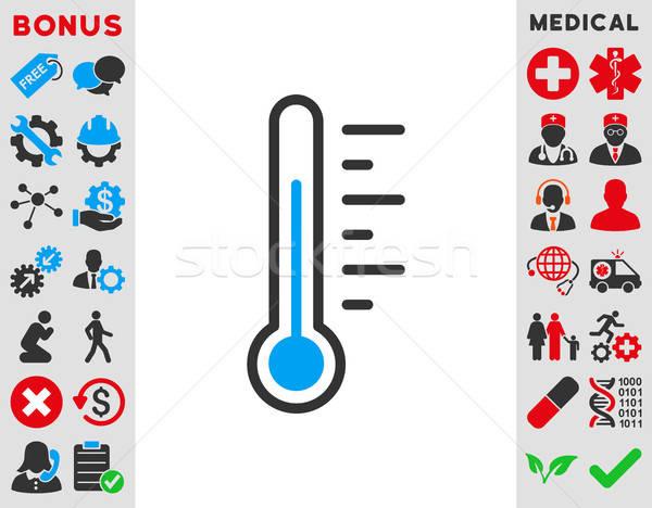Hőmérséklet szint ikon vektor ikon stílus szimbólum Stock fotó © ahasoft
