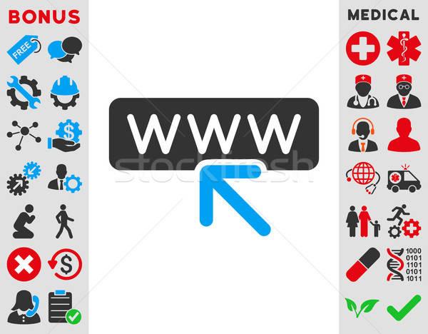Kiválasztott weboldal ikon vektor stílus szimbólum Stock fotó © ahasoft