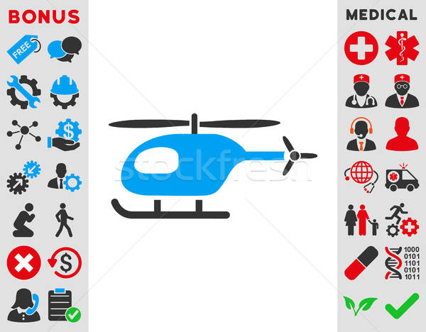 Helicopter Icon Stock photo © ahasoft