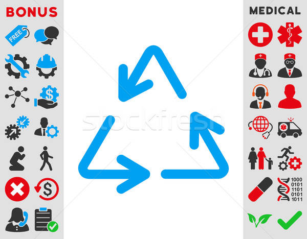 Reciclar ícone vetor estilo símbolo Foto stock © ahasoft