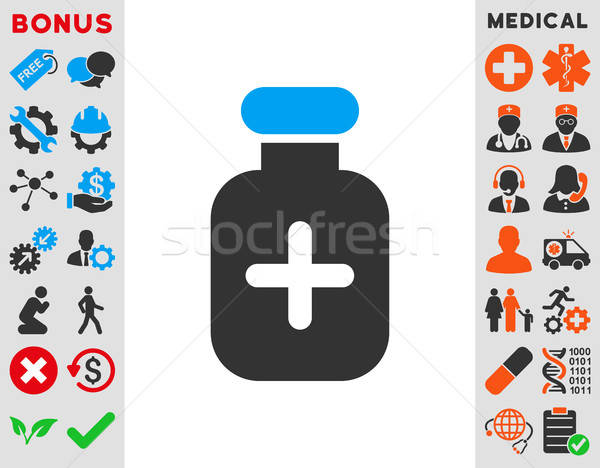 Medication Vial Icon Stock photo © ahasoft