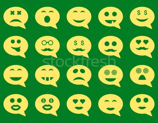 Chat emotion smile icons Stock photo © ahasoft
