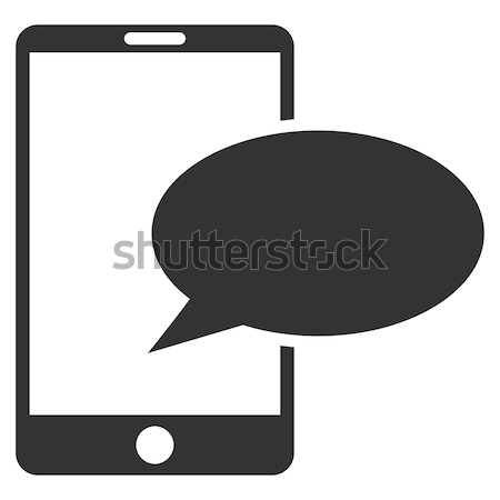 Teléfono mensaje icono gris símbolo pictograma Foto stock © ahasoft