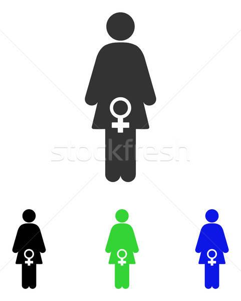 Vrouwelijke vruchtbaarheid vector icon pictogram illustratie Stockfoto © ahasoft