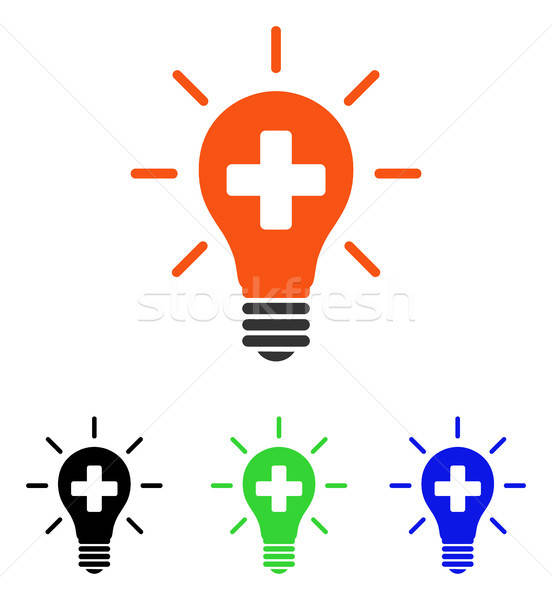 Medical Electric Lamp Flat Vector Icon Stock photo © ahasoft