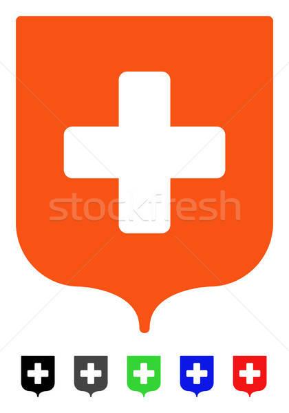 Médicos escudo icono vector pictograma Foto stock © ahasoft