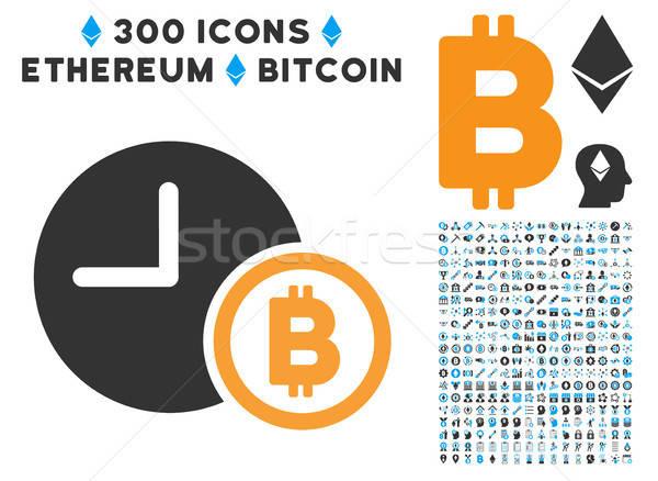 Bitcoin crédito relógio ícone clip-art inteligente Foto stock © ahasoft