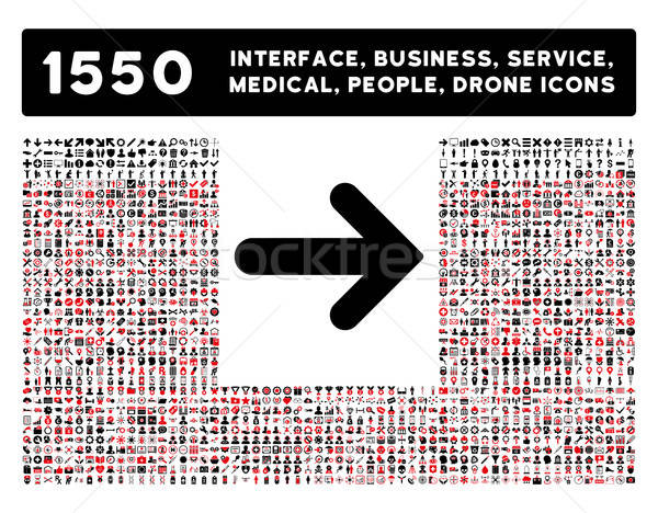 Arrow Right Icon and More Interface, Business, Tools, People, Medical, Awards Flat Vector Icons Stock photo © ahasoft
