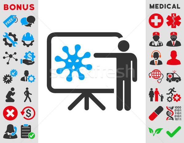 Stock photo: Virus Report Icon