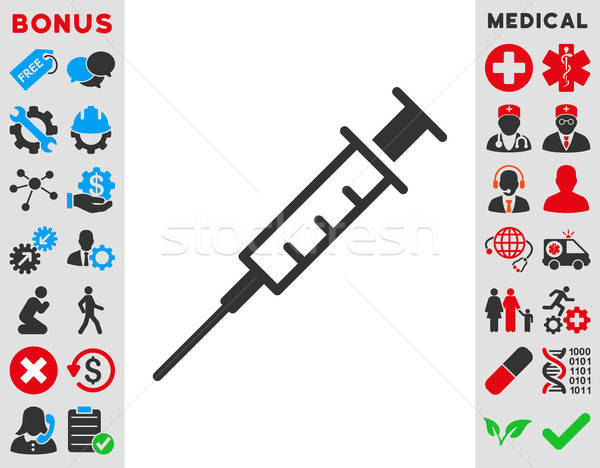 Empty Syringe Icon Stock photo © ahasoft