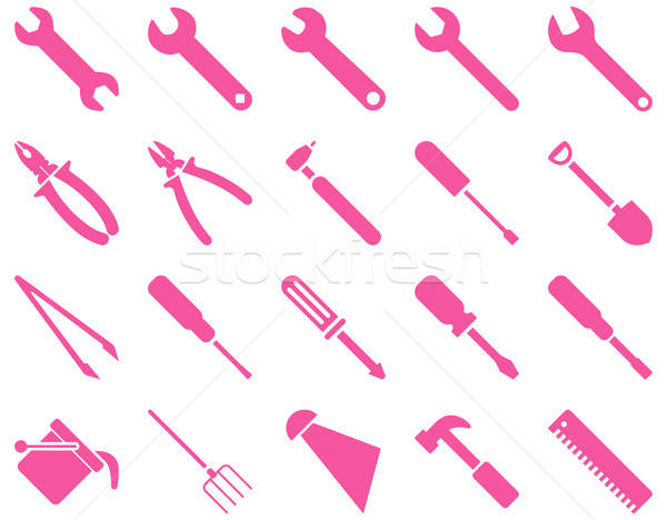 Equipment and Tools Icons Stock photo © ahasoft