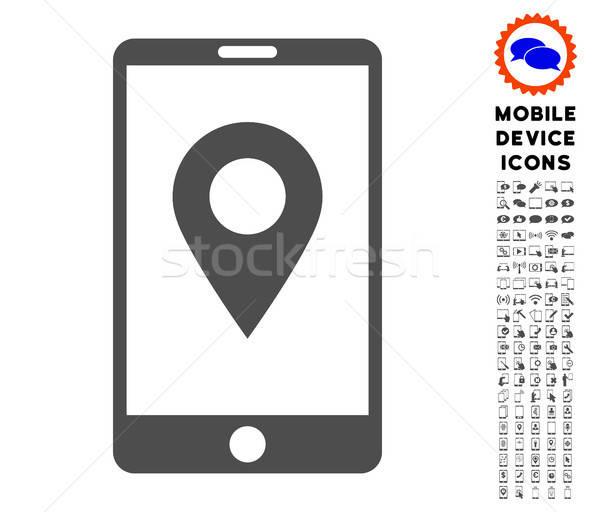 Komórkowych GPS ikona smartphone clipart Zdjęcia stock © ahasoft