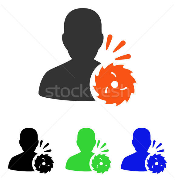 Body Execution Flat Vector Icon Stock photo © ahasoft