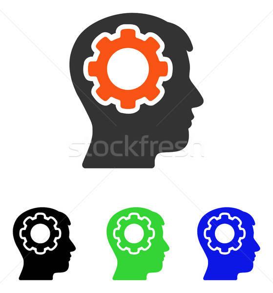 человека ума вектора икона пиктограммы иллюстрация Сток-фото © ahasoft