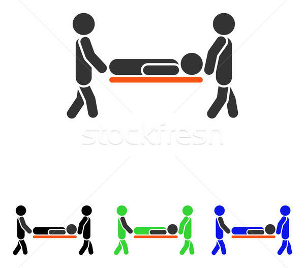 Stock photo: Patient Stretcher Flat Vector Icon