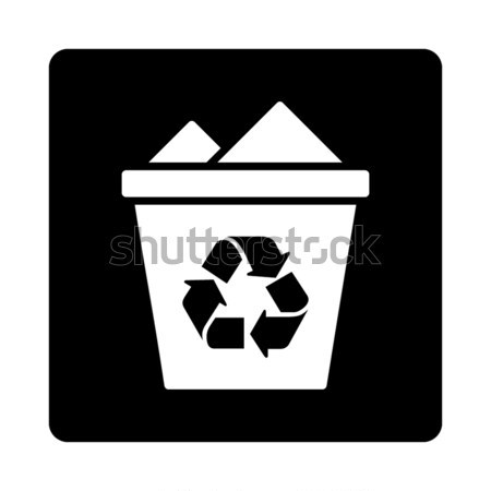 Recycle Bin Flat Vector Icon Stock photo © ahasoft