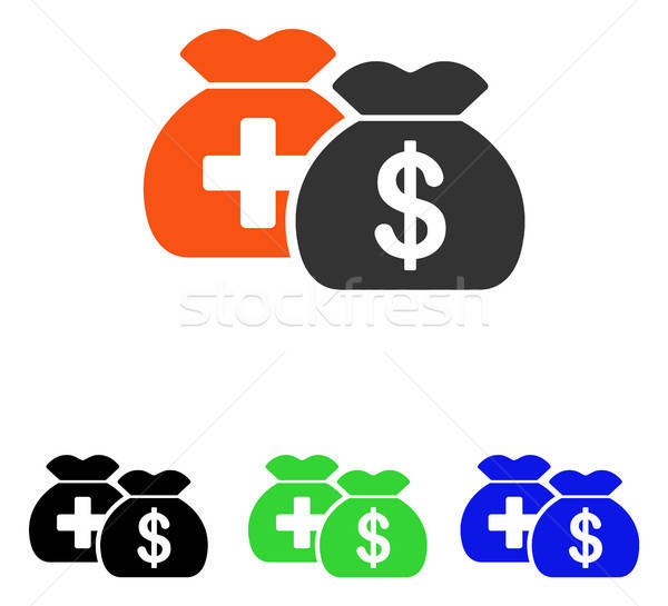 Médicaux fonds sacs vecteur icône illustration Photo stock © ahasoft