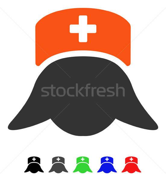 Hospital enfermeira cabeça ícone vetor Foto stock © ahasoft
