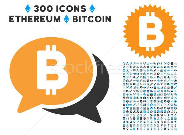 Bitcoin chat icono inteligentes contrato fotos Foto stock © ahasoft