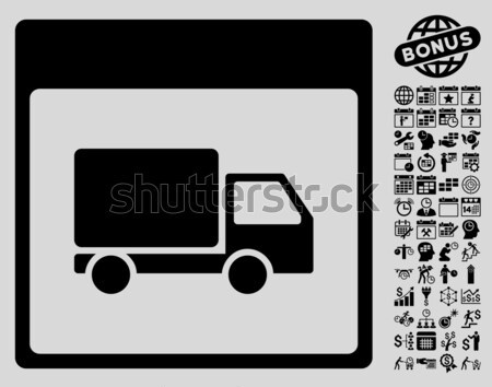 Lorry Distribution Scheme Framed Icon Stock photo © ahasoft