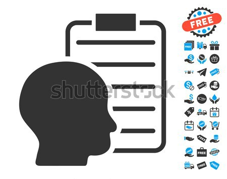 User Report Page Flat Icon Stock photo © ahasoft