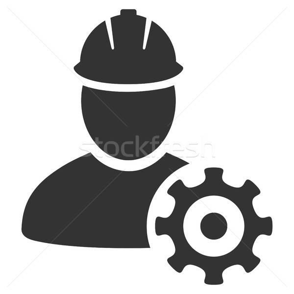 Service Man Flat Icon Stock photo © ahasoft