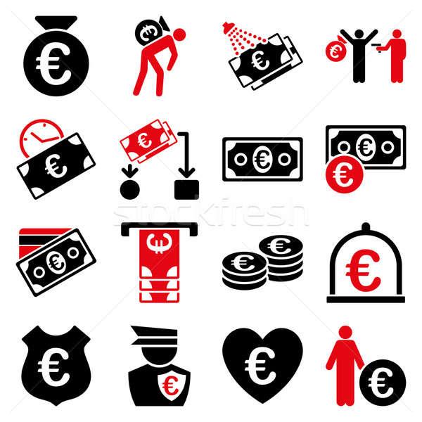 Foto d'archivio: Euro · banking · business · servizio · strumenti · icone