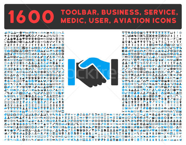 Acquisition Icon with Large Pictogram Collection Stock photo © ahasoft