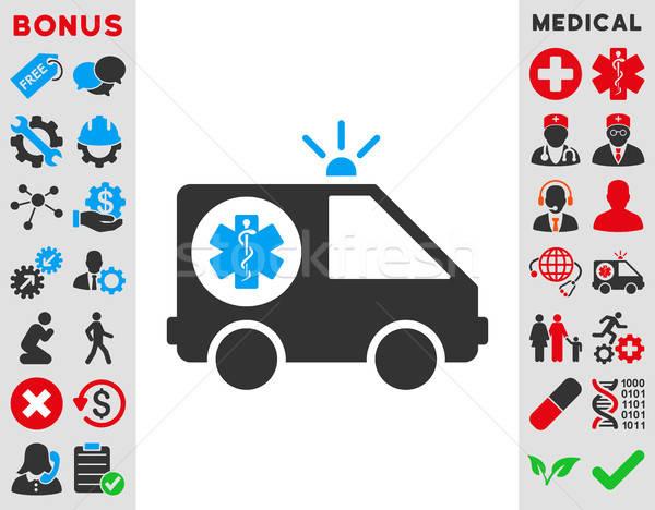 Ambulância carro ícone vetor estilo símbolo Foto stock © ahasoft