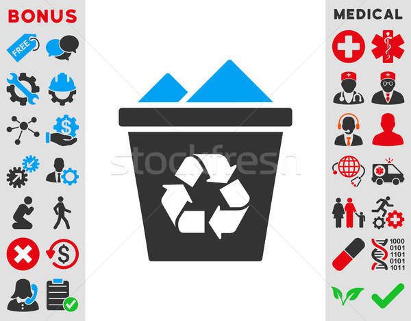 Full Recycle Bin Icon Stock photo © ahasoft