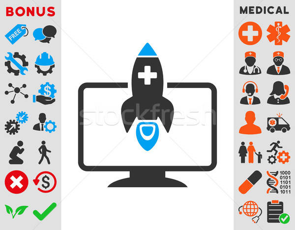 Medische startup icon vector stijl symbool Stockfoto © ahasoft