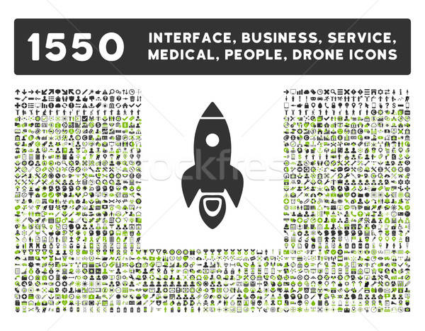 Stock photo: Interface, Business, Tools, People, Medical, Awards Vector Icons