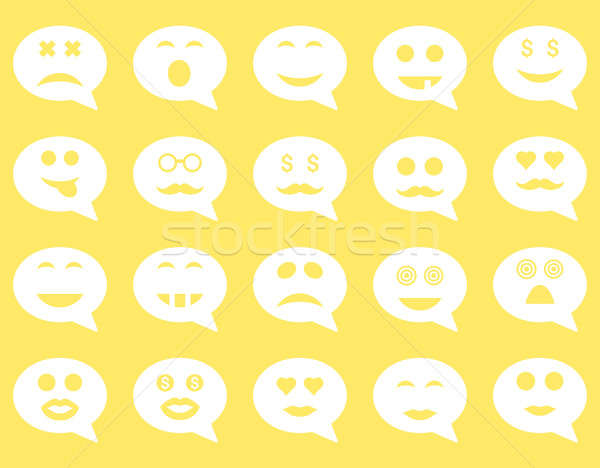 Chat Emotion Smile Icons Stock Photo Victor Ivlichev Ahasoft