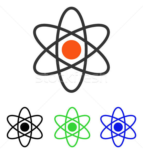 Atom Flat Vector Icon Stock photo © ahasoft