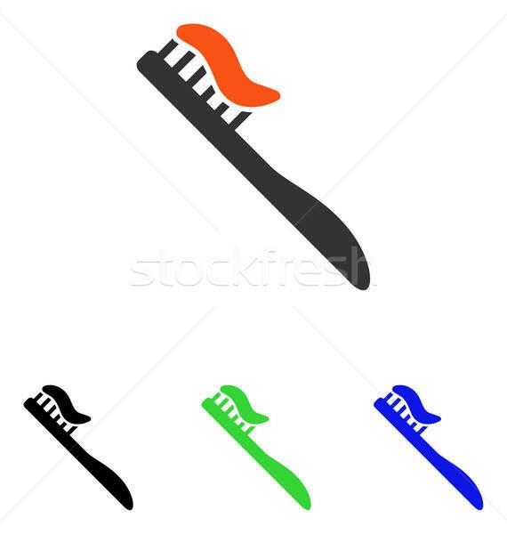 Tooth Brush Flat Vector Icon Stock photo © ahasoft