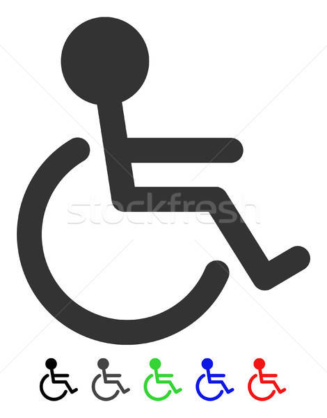 Handicapped Flat Icon Stock photo © ahasoft