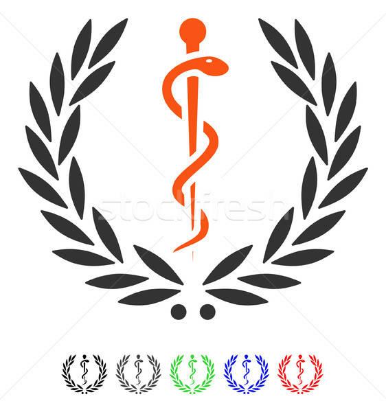 Healh Care Emblem Flat Icon Stock photo © ahasoft
