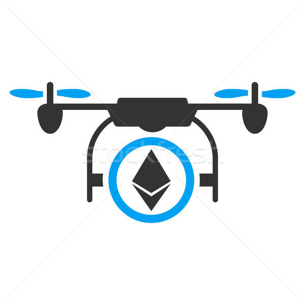 Stock photo: Ethereum Copter Flat Icon