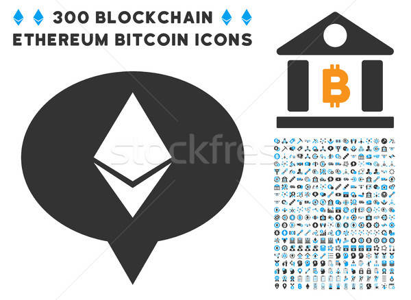 Ethereum Banner Balloon Flat Icon with Set Stock photo © ahasoft
