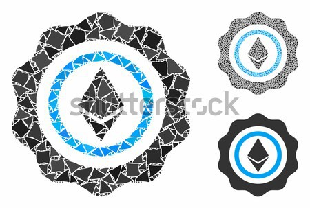 Ethereum Stamp Seal Vector Icon Set Stock photo © ahasoft