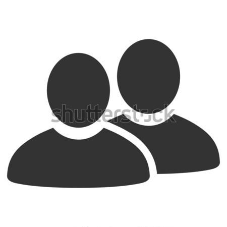 Menedzserek ikon piktogram stílus grafikus szürke Stock fotó © ahasoft