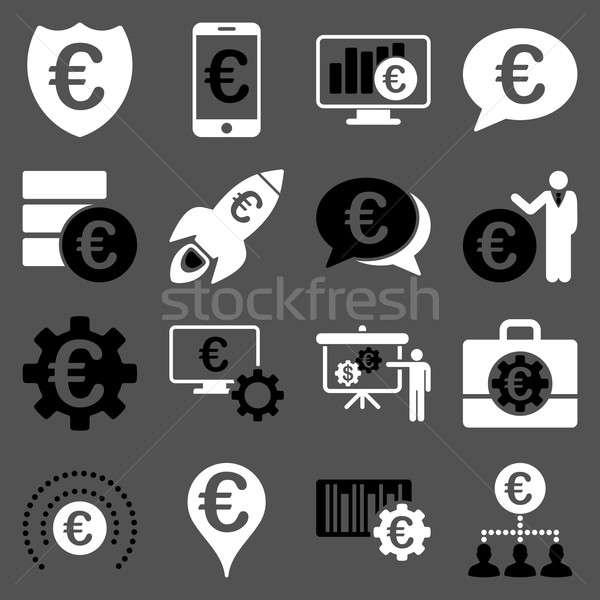 Euro banking business servizio strumenti icone Foto d'archivio © ahasoft