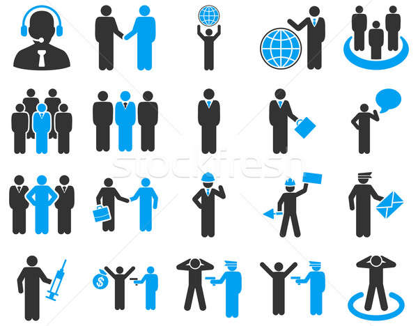 Management and people occupation icon set.  Stock photo © ahasoft