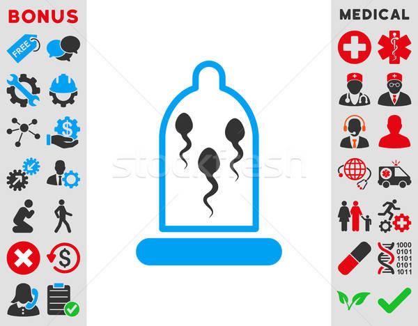 Sperma óvszer ikon vektor stílus szimbólum Stock fotó © ahasoft