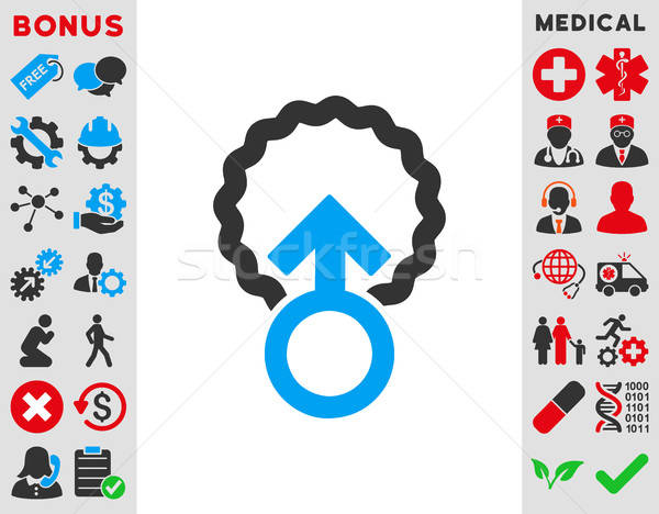 Stock photo: Ovum Penetration Icon