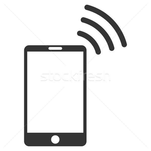 Stock photo: Mobile Wi-Fi Signal Flat Raster Icon